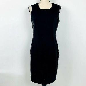 Calvin Klein Black Career Sleeveless Dress